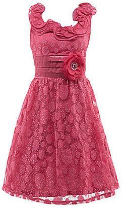 My Michelle 7-16 Tonal Dot Print Dress