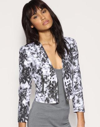 The Laden Showroom Love Milly Studded Zip Front Tie Dye Jacket