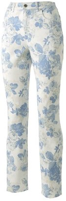 Gloria Vanderbilt amanda floral tapered jeans - petite