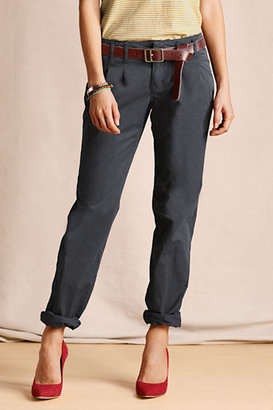Lands' End Women's Pleated Slim Slouch Chinos