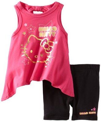 Hello Kitty Girls 2-6X Short Set With Flowing Top