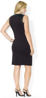 Lauren Ralph Lauren Plus Size Sleeveless Crew-Neck Dress