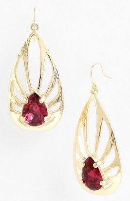Nordstrom 'Picasso' Teardrop Earrings Fuchsia/ Gold