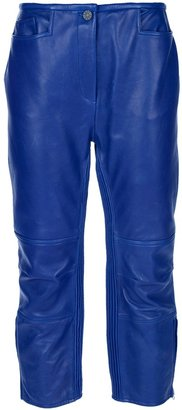 Acne cropped leather trousers