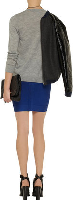 Herve Leger High-rise bandage mini skirt