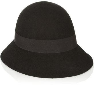 Stella McCartney Wool-felt cloche hat