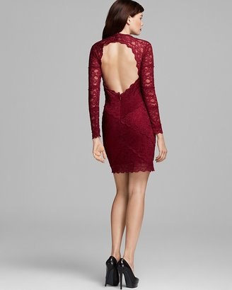 Nicole Miller Open Back Lace Dress
