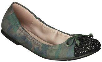 Sam & Libby Women's Brynn Sparkle Cap Toe Ballet Flat - Cobalt