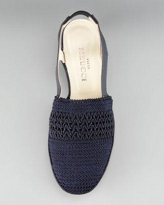 Sesto Meucci Crochet Slingback Flat
