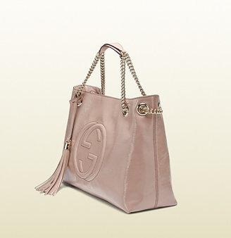 Gucci Soho Soft Patent Leather Shoulder Bag
