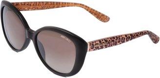 Jimmy Choo Tita Leopard Print Sunglasses