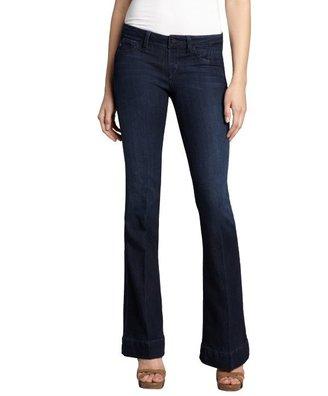 Sold Denim dark indigo cotton blend 'Houston High Heel' bootcut jeans