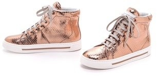 Marc by Marc Jacobs Metallic High Top Sneakers
