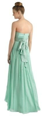 BCBGMAXAZRIA Strapless Silk Gown with High Low Hem