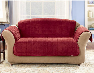 Sure Fit Quilted Velvet Deluxe Loveseat Pet Furniture Cover
