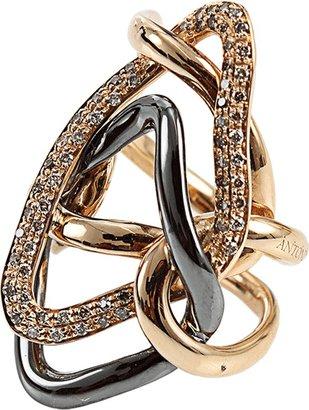 Antonini Diamond Milano Rose Gold Ring