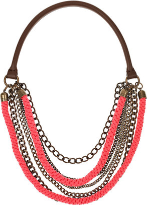 Marni Rope and chain multi-strand necklace