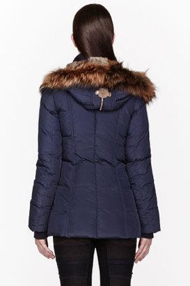 Mackage Navy Down & Fur Lavish Akiva Coat