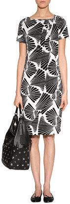 Diane von Furstenberg Black Leather Franco Pyramid Stud Shoulder Bag