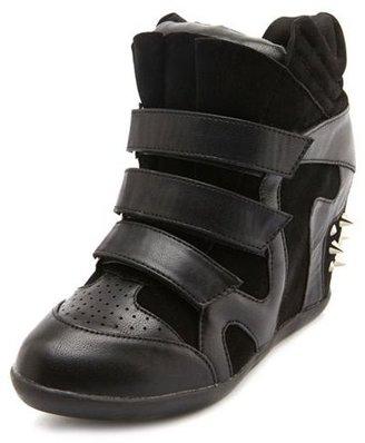 Charlotte Russe Stud Back Wedge Sneaker