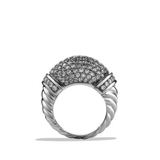 David Yurman Metro Bombe Ring with Diamonds