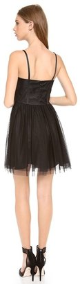 Jill Stuart Jill Point d'Esprit Bustier Dress