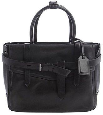 Reed Krakoff black leather buckle strap shoulder bag