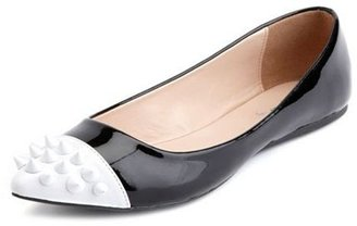 Charlotte Russe Spiked Toe Patent Ballet Flat