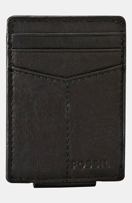 Fossil 'Ingram' Leather Magnetic Money Clip Card Case