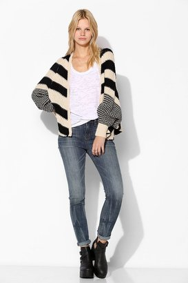Sparkle & Fade Mixed Stripe Open-Front Cardigan