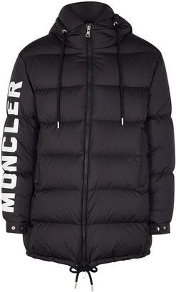 Moncler Moncenoisio Navy Quilted Shell Coat