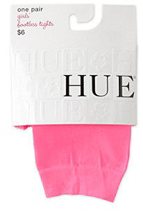 Hue Girls' 4-14 Neon Pink Footless Tights
