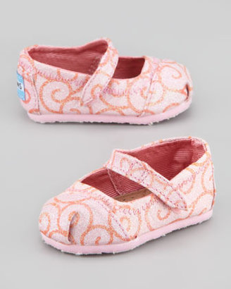 Toms Tiny Glitter Swirl Mary Jane, Pink