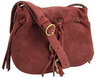Lucky Brand Hollywood Vine Suede Mini Crossbody (Oiled Fig) - Bags and Luggage