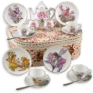 Reutter Porcelain Kid's Flower Fairies Medium 19-Piece Tea Set