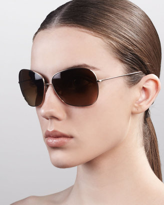 Oliver Peoples Elsie Sunglasses, Brown Gradient