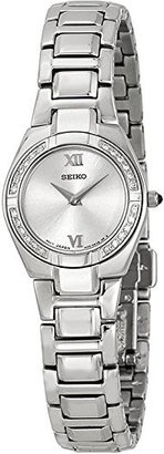 Seiko Women's SUJF09 Diamond Silver-Tone Watch $144 thestylecure.com