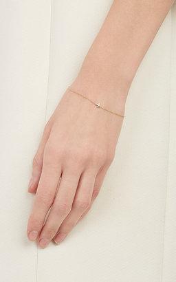 Ileana Makri Women's White Diamond Mini-Cross Bracelet