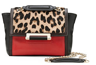 Diane von Furstenberg 440 Mini Leopard Haircalf Bag In Leopard/ Paprika