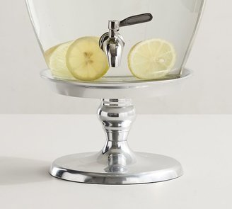 Pottery Barn Silver Metal Drink Dispenser Stand