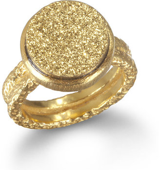 Wendy Mink Gold Druzy Ring