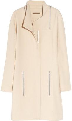 Victoria Beckham Zip-detailed stretch-wool coat