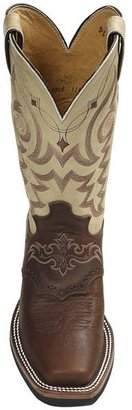 """Justin Boots Aqha Q-Crepe Cowboy Boots - Leather, 11"""", Square Toe, Rubber Outsole (For Women)"""