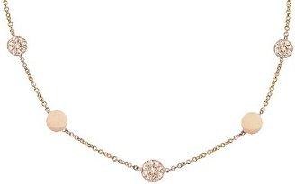 Jennifer Meyer Diamond Circle Necklace - 16'' - Rose Gold