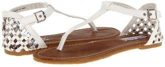 Steve Madden J-Suttle (Little Kid/Big Kid) (White/Silver) - Footwear
