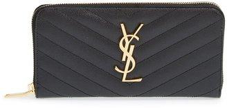 Saint Laurent 'Monogram' Quilted Leather Wallet