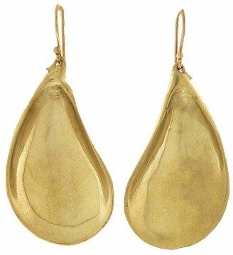 Annette Ferdinandsen Medium Mussel Shell Earrings - Yellow Gold