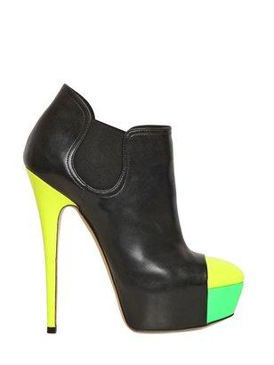 Casadei 140mm Neon Calfskin Low Boots