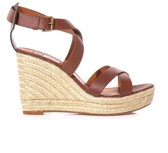 Lanvin Leather wedge sandals