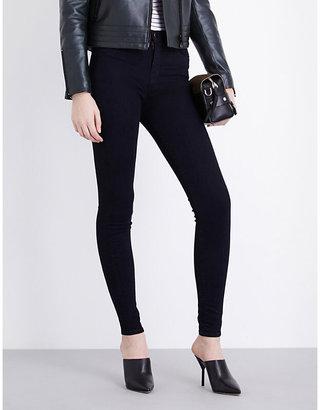 J Brand Ladies Black On Trend Skinny High-Rise Jeans